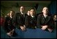 Cadets from the New Mexico Military Institute listen as President George W. Bush delivers remarks on the war on terror at the Roswell Convention Center in Roswell, N.M., Thursday, Jan. 22, 2004.  White House photo by Eric Draper