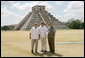 President George W. Bush, Mexico's President Vicente Fox and Canada's Prime Minister Stephen Harper, right, stand in front of the Chichen-Itza Archaeological Ruins Thursday, March 30, 2006. White House photo by Kimberlee Hewitt