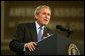 President George W. Bush gives remarks to the American Associations of Community Colleges annual convention in Minneapolis, Minn., Monday, April 26, 2004.   White House photo by Paul Morse