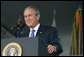 """President George W. Bush delivers the commencement speech Saturday, May 27, 2006, to the 2006 graduating class of the U.S. Military Academy at West Point, in West Point, N.Y. """"The field of battle is where your degree and commission will take you, """" the President told the graduates. """"This is the first class to arrive at West Point after the attacks of September the 11th, 2001. Each of you came here in a time of war, knowing all the risks and dangers that come with wearing our nation's uniform. And I want to thank you for your patriotism, your devotion to duty, your courageous decision to serve. America is grateful and proud of the men and women of West Point."""" White House photo by Shealah Craighead"""