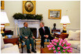 Meeting in the Oval Office June, 26, 2003, President Bush thanked Prime Minister Jugnauth of Mauritius for hosting the Africa Growth and Opportunity Act Forum in January 2003. The President stressed that all of us share a common vision for the future of Africa and we look to the day when prosperity for Africa is built through trade and markets. Exports from AGOA nations to the United States are rising dramatically, and the benefits are felt throughout the region. From Mauritius to Mali, AGOA is helping to reform old economies, creating new incentives for good governance, and offering new hope for millions of Africans.