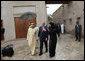 President George W. Bush is escorted on a tour of the Sheikh Saeed Maktoum House, home of Vice President and Prime Minister of the United Arab Emirates Sheikh Mohammed bin Rashid al-Maktoum, left, Monday, Jan. 14, 2008 in Dubai. White House photo by Eric Draper