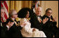 Singer Diana Ross is applauded by her fellow Kennedy Center honorees as she is recognized for her achievements by President George W. Bush in the East Room of the White House Sunday, Dec. 2, 2007, during the Kennedy Center Gala Reception. From left are singer, songwriter Brian Wilson; filmmaker Martin Scorsese; comedian, actor and author Steve Martin and pianist Leon Fleisher. White House photo by Shealah Craighead