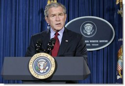 President George W. Bush speaks to the nation from the Bush Ranch in Crawford, Texas, Thursday, Dec. 27, 2007, in response to the assassination of Benazir Bhutto, former Prime Minister of Pakistan. White House photo by Chris Greenberg