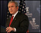 """President George W. Bush speaks at the Heritage Foundation Thursday, Nov. 1, 2007, in Washington, D.C. Speaking on the Global War on Terror, the President said, """"We're standing with those who yearn for liberty in the Middle East, because we know that when free societies take root in that part of the world, they will yield the peace we all desire."""" White House photo by Chris Greenberg"""