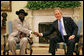 President George W. Bush meets with Salva Kiir, First Vice President of the Government of National Unity of the Republic of the Sudan and President of the Government of Southern Sudan, Thursday, Nov. 15, 2007, in the Oval Office. White House photo by Eric Draper