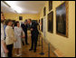 Mrs. Laura Bush and Mrs. Livia Klausova, First Lady of Czech Republic, are led on a tour of the newly renovated Lobkowicz Palace by Prince William Lobkowics Tuesday, June 5, 2007, at Prague Castle in Prague, Czech Republic. White House photo by Shealah Craighead
