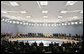 NATO heads of state and government are seated during opening remarks Wednesday, Nov. 29, 2006, during the 2006 NATO Summit at the Olympic Sports Center in Riga, Latvia. White House photo by Paul Morse