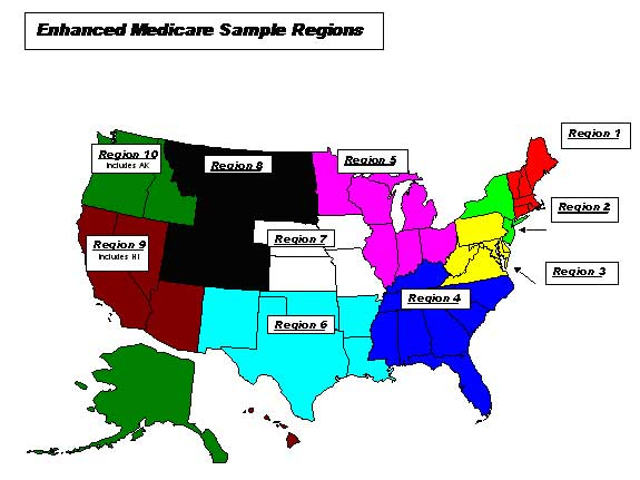 Enhanced Medicare Sample Regions