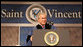 """President George W. Bush delivers the commencement address Friday, May 11, 2007, at Saint Vincent College in Latrobe, Pa., urging graduates to """"step forward and serve a cause larger than yourselves."""" White House photo by Joyce Boghosian"""