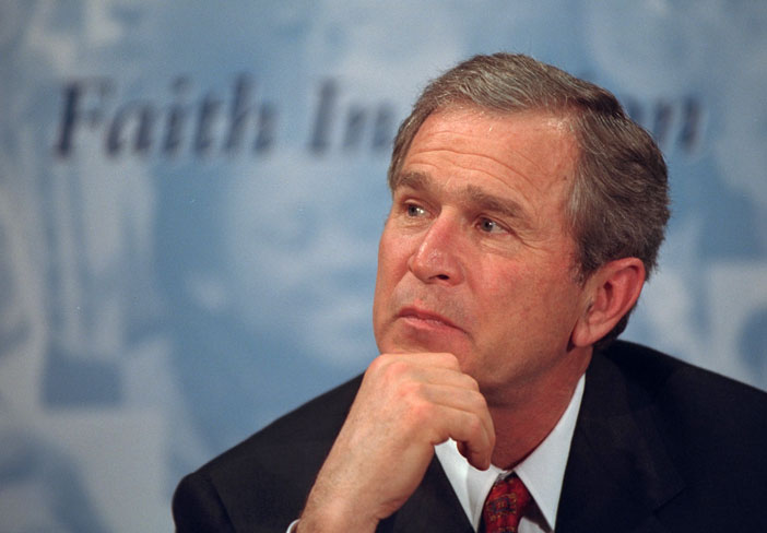 President George W. Bush at announcement of Faith-Based Initiative.