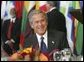 President George W. Bush attends a luncheon at the United Nations General Assembly in New York City Tuesday, Sept. 21, 2004. White House photo by Eric Draper.