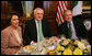 President George W. Bush joins Ireland's Prime Minister Bertie Ahern, center, and House Speaker Nancy Pelosi, left, Thursday, March 15, 2007, during the annual St. Patrick's Day luncheon at the U.S. Capitol. White House photo by Joyce Boghosian