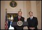 President George W. Bush announces his nomination Monday, Oct. 31, 2005, of Philadelphia Appeals Court Judge Samuel A. Alito, Jr., for Associate Justice of the U.S. Supreme Court, to replace the retiring Justice Sandra Day O'Connor. White House photo by Paul Morse