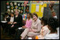 Mrs. Laura Bush and U.S. Secretary of Education Margaret Spellings visit the Sixth Grade Language Arts Class at the Avon Avenue Elementary School, Thursday, March 16, 2006 in Newark, N.J., where Mrs. Bush announced a Striving Readers grant to Newark Public Schools. White House photo by Shealah Craighead
