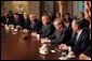 President George W. Bush meets with his Cabinet in the Cabinet Room of the White House Thursday, Nov. 4, 2004. White House photo by Tina Hager.