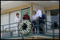 President George W. Bush, Mrs.Laura Bush and Japanese Prime Minister Junichiro Koizumi stand with Dr. Benjamin Hooks, Memphis resident and former director of the NAACP, as they tour the balcony-walkway of the Lorraine Motel in Memphis Friday, June 30, 2006, site of the 1968 assassination of civil rights leader Dr. Martin Luther King, Jr., which is now the National Civil Rights Museum. White House photo by Eric Draper