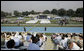 """Families and friends attend the graduation ceremony at the United States Merchant Marine Academy at Kings Point, New York, Monday, June 19, 2006. """"For more than six decades, the mission of this Academy has been to graduate highly skilled mariners to serve America's economic and national security needs,"""" said President Bush. """"To train you for these responsibilities, this Academy sharpens your mind, it strengthens your body, and builds up your character."""" White House photo by Kimberlee Hewitt"""