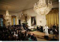 Recording artist Patti Austin performs in the East Room of the White House Monday, June 26, 2006, as part of the Black Music Month celebration focusing on the music of the Gulf Coast: Blues, Jazz and Soul. White House photo by Eric Draper