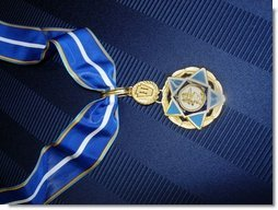 This is the 9/11 Heroes Medal of Valor Award presented Friday, Sept. 9, 2005 in ceremonies at the White House in Washington, in honor of the courage and commitment of emergency services personnel who died on Sept. 11, 2001. Department of Justice photo.