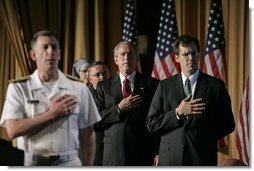 President George W. Bush attends the National Catholic Prayer Breakfast in Washington, D.C., Friday, May 20, 2005. White House photo by Eric Draper