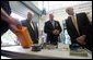 Vice President Dick Cheney, Senator Saxby Chambliss, and Department of Homeland Security Secretary Michael Chertoff are shown various types of radioactive sensing devices during a visit to the Federal Law Enforcement Training Center in Glynco, Georgia, May 2, 2005. White House photo by David Bohrer