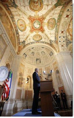 President George W. Bush participates in a joint press availability with Italian Prime Minister Silvio Berlusconi Thursday, June 12, 2008, at the Villa Madama in Rome. White House photo by Eric Draper