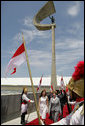 Laura Bush is joined by Anna Christina Kubitschek Pereira, granddaughter of former Brazil President Juscelino Kubitschek as they tour the Memorial JK in Brasilia, Brazil Saturday, Nov. 6, 2005. Mrs. Kubitschek Pereira is the President of the Memorial JK, which is located at the Cruzeiro Square, one of the highest points of the city. White House photo by Krisanne Johnson