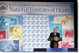 """President George W. Bush delivers his remarks regarding his National Strategy for Pandemic Influenza Preparedness and Response Tuesday, Nov. 1, 2005. """"Today, I am announcing key elements of that strategy. Our strategy is designed to meet three critical goals: First, we must detect outbreaks that occur anywhere in the world; second, we must protect the American people by stockpiling vaccines and antiviral drugs, and improve our ability to rapidly produce new vaccines against a pandemic strain; and, third, we must be ready to respond at the federal, state and local levels in the event that a pandemic reaches our shores,"""" said President Bush. White House photo by Paul Morse"""