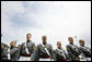 Members of the 2006 graduating class of the U.S. Military Academy at West Point bow their heads during the benediction Saturday, May 27, 2006, in West Point, N.Y. White House photo by Shealah Craighead