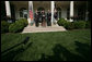 President George W. Bush stands with Treasury Secretary John Snow, left, and Henry Paulson, Chairman and Chief Executive Officer of the Goldman Sachs Group, as he announces his nomination of Mr. Paulson to succeed Secretary Snow. The announcement was made in the Rose Garden Tuesday, May 30, 2006. White House photo by Shealah Craighead