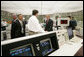 President George W. Bush meets workers in the control room at the Limerick Generating Station in Limerick, Pa., Wednesday, May 24, 2006 , where President Bush addressed an audience urging the the advancement of nuclear energy as part of a diversified U.S. energy policy. White House photo by Kimberlee Hewitt