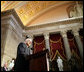Vice President Dick Cheney delivers remarks after receiving the 2006 Distinguished Service Award during a ceremony held in Statuary Hall at the U.S. Capitol in Washington, Wednesday, May 10, 2006. The Distinguished Service Award is presented to former members of the House of Representatives who have served the country with extraordinary distinction and selfless dedication. White House photo by Kimberlee Hewitt