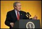 President George W. Bush speaks at the White House Conference on the Economy at the Ronald Reagan Building in Washington, D.C., on Thursday, Dec. 16, 2004. White House photo by Paul Morse