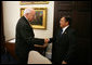 Vice President Dick Cheney welcomes Indonesian Vice President Muhammad Yusuf Kalla before a meeting at the White House, Tuesday, September 26, 2006. White House photo by David Bohrer