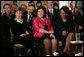 Mrs. Laura Bush is joined by Therese Rein, wife of Australian Prime Minister Kevin Rudd, and U.S. Secretary of State Condoleezza Rice, right, during the joint press availability with President George W. Bush and Prime Minister Rudd Friday, March 28, 2008, in the East Room of the White House. White House photo by Shealah Craighead