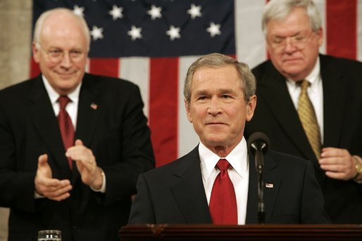 President George W. Bush delivers his fourth State of the Union Address at the U.S. Capitol, Wednesday, Feb. 2, 2005. White House photo by Eric Draper