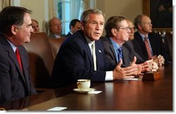 President George W. Bush meets with members of the Congressional Conference Committee on Energy Legislation in the Cabinet Room Wednesday, Sept. 17, 2003.  White House photo by Tina Hager