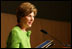 Mrs. Laura Bush delivers her remarks during the National Endowment for the Arts 'Big Read' event Thursday, July 20, 2006, at the Library of Congress in Washington. The 'Big Read' is a new program to encourage the reading of classic literature by young readers and adults.