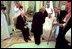 Vice President Dick Cheney and Lynne Cheney greet King Fahd of Saudi Arabia in Jeddah, Saudi Arabia, March 16, 2002.