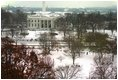 An early winter snow transforms the White House and Lafayette Park into a winter wonderland, Thursday, Dec. 5, 2002.