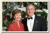 Official Holiday Portrait: President Bush and Mrs. Laura Bush