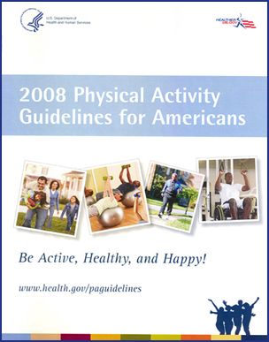 2008 Physical Activity Guidelines for Americans. Be Active, Healthy, and Happy! www.health.gov/paguidelines