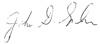 Signature of John D. Graham