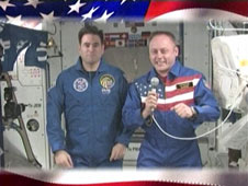 Astronauts Greg Chamitoff and Mike Fincke