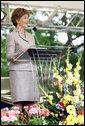 Mrs. Laura Bush addresses the 2006 graduating class during the commencement ceremonies at Vanderbilt University in Nashville, Tenn., Thursday, May 11, 2006. White House photo by Shealah Craighead
