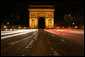 Traffic passes by the Arc de Triomphe in Paris early Saturday morning, June 14, 2008. White House photo by Chris Greenberg