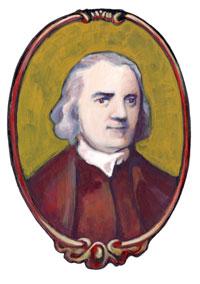 Drawing of Samuel Adams