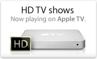 HD TV shows now playing on Apple TV.