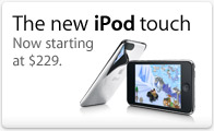 The new iPod touch: Now starting at $229.